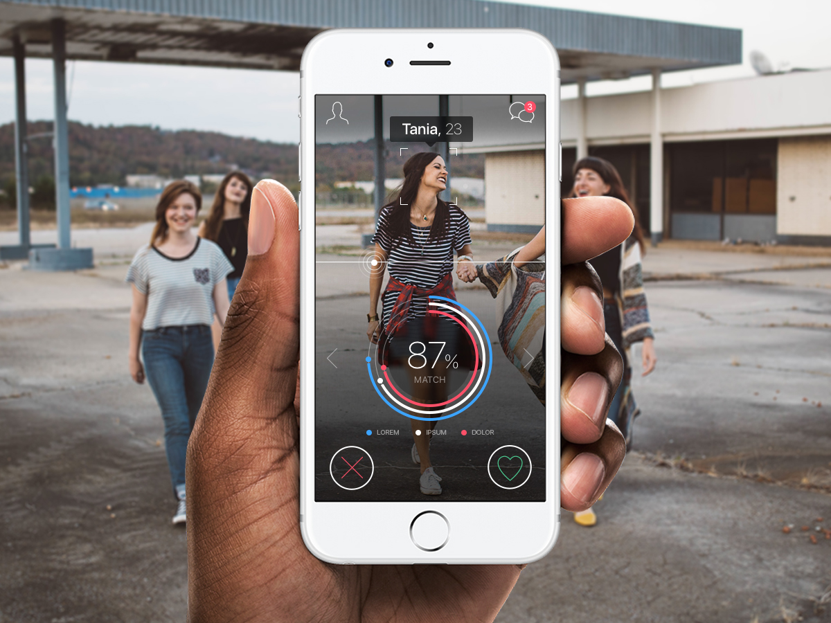 Augmented reality dating app