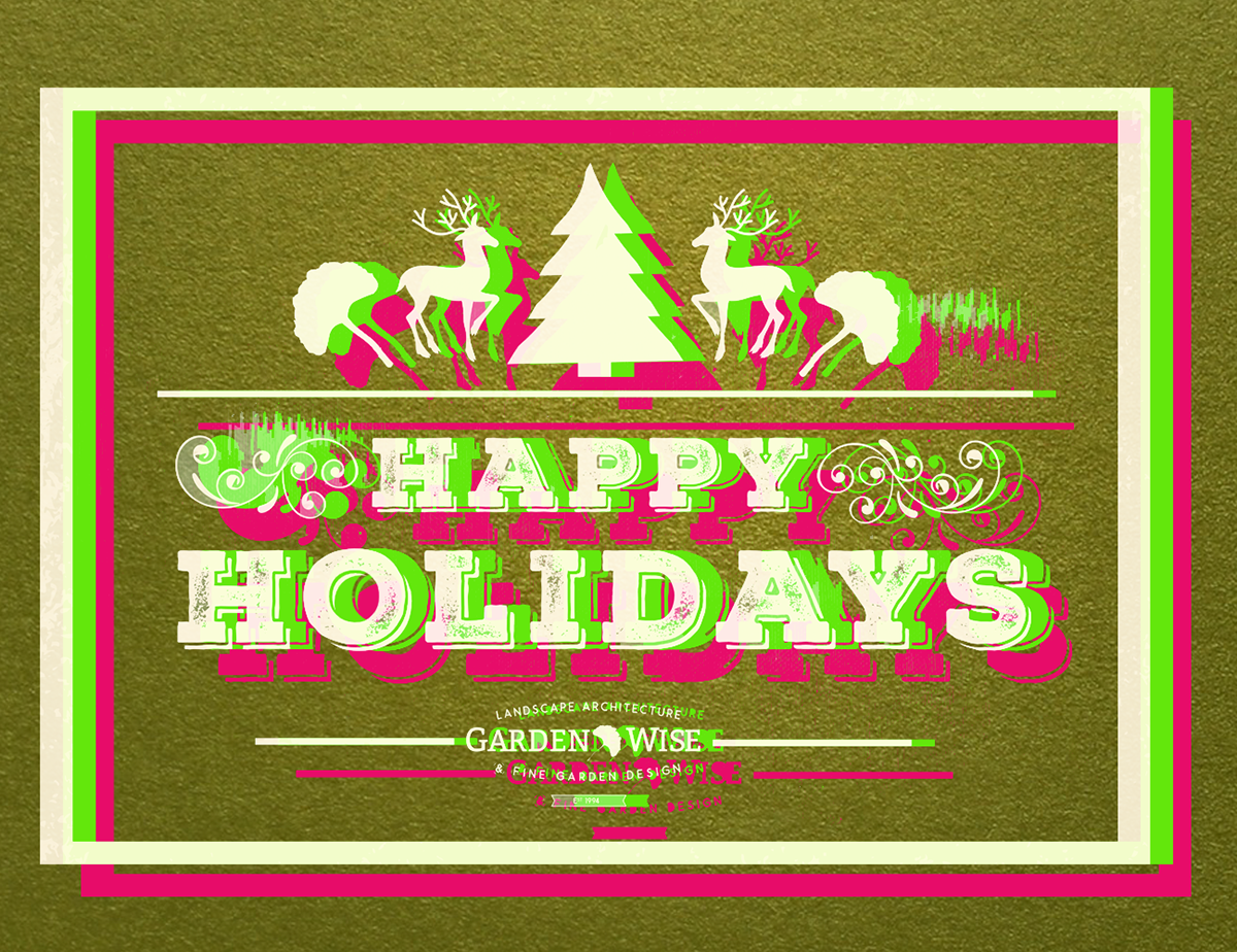 GardenWise 2017 Holiday Card With Painted Edges On Behance