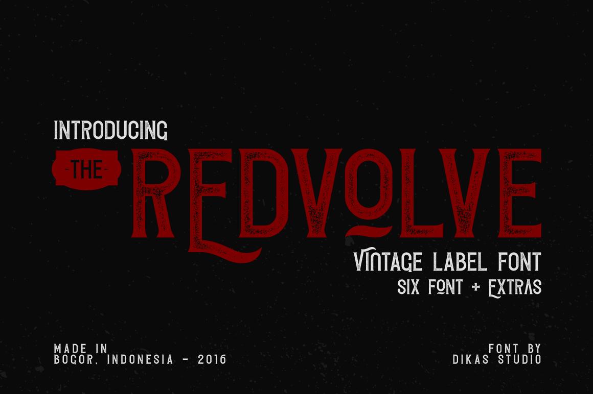 Redvolve Typeface - Six Fonts + Extras on Behance
