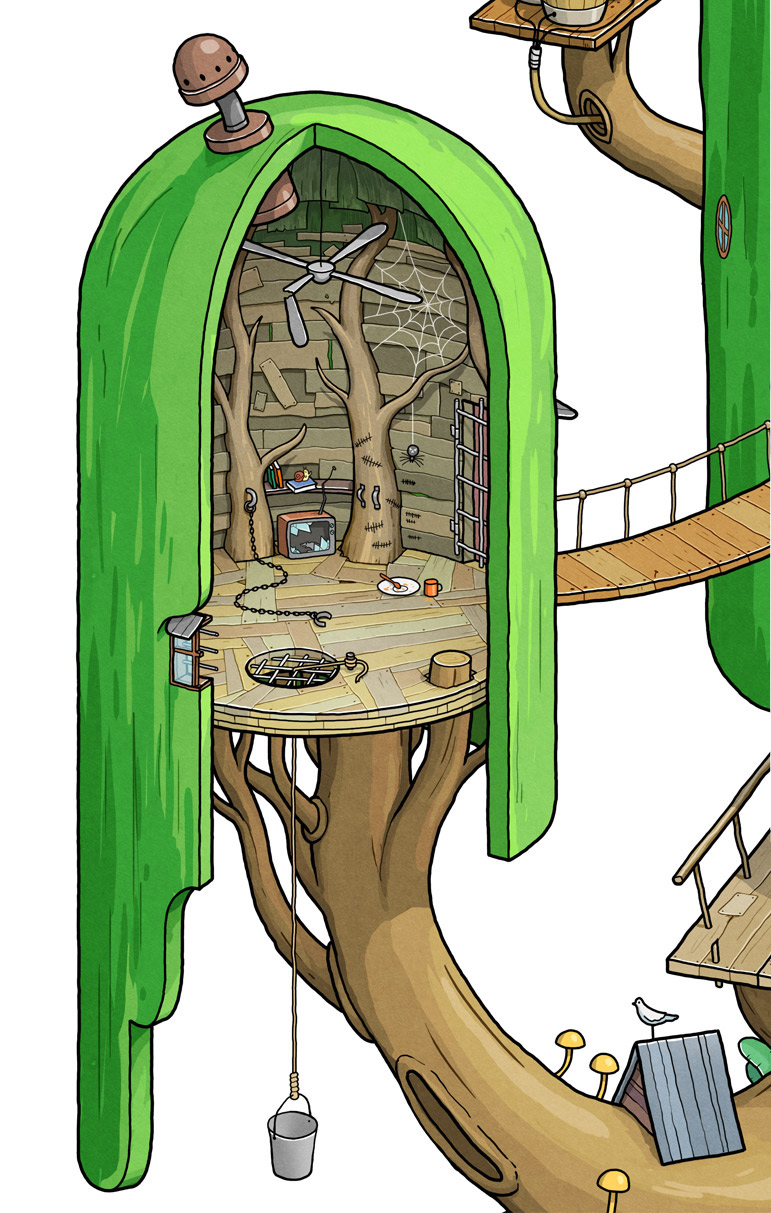 Exploring Land Of Ooo Inside The Tree Fort On Behance