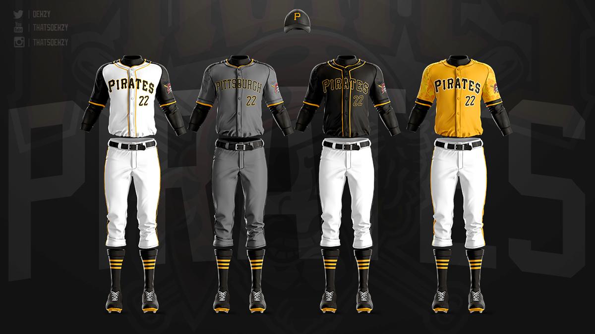 MLB Jerseys Redesigned on Behance