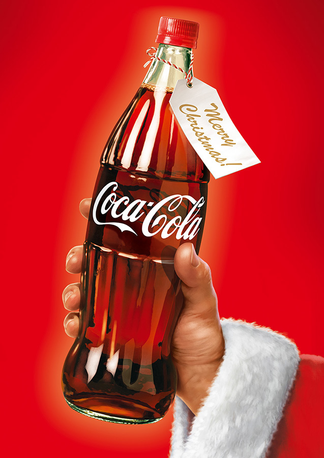Coca Cola Christmas Bottle.Coca Cola Christmas Poster On Behance