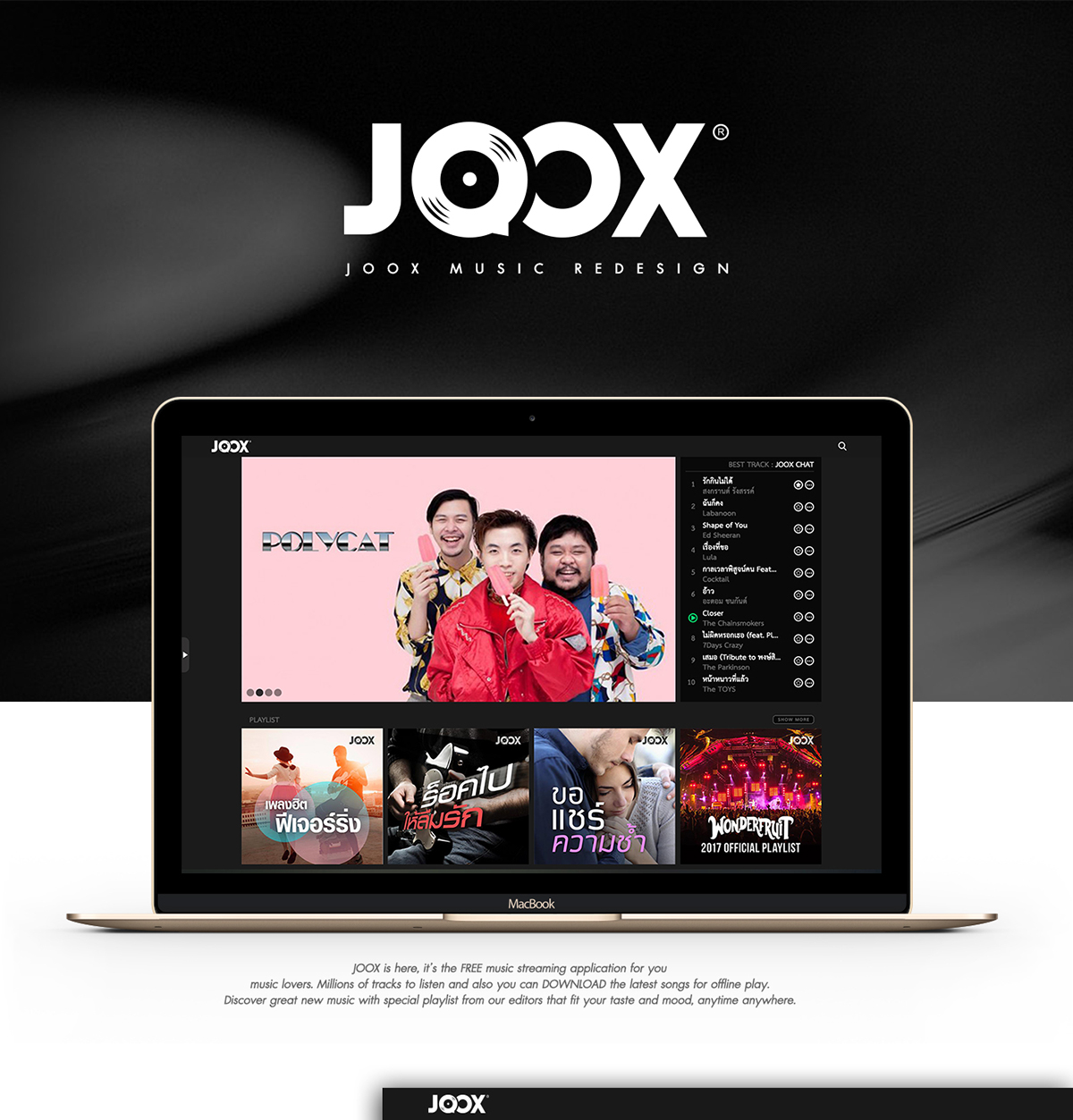 Joox music redesign concept on student show joox music redesign concept stopboris Images