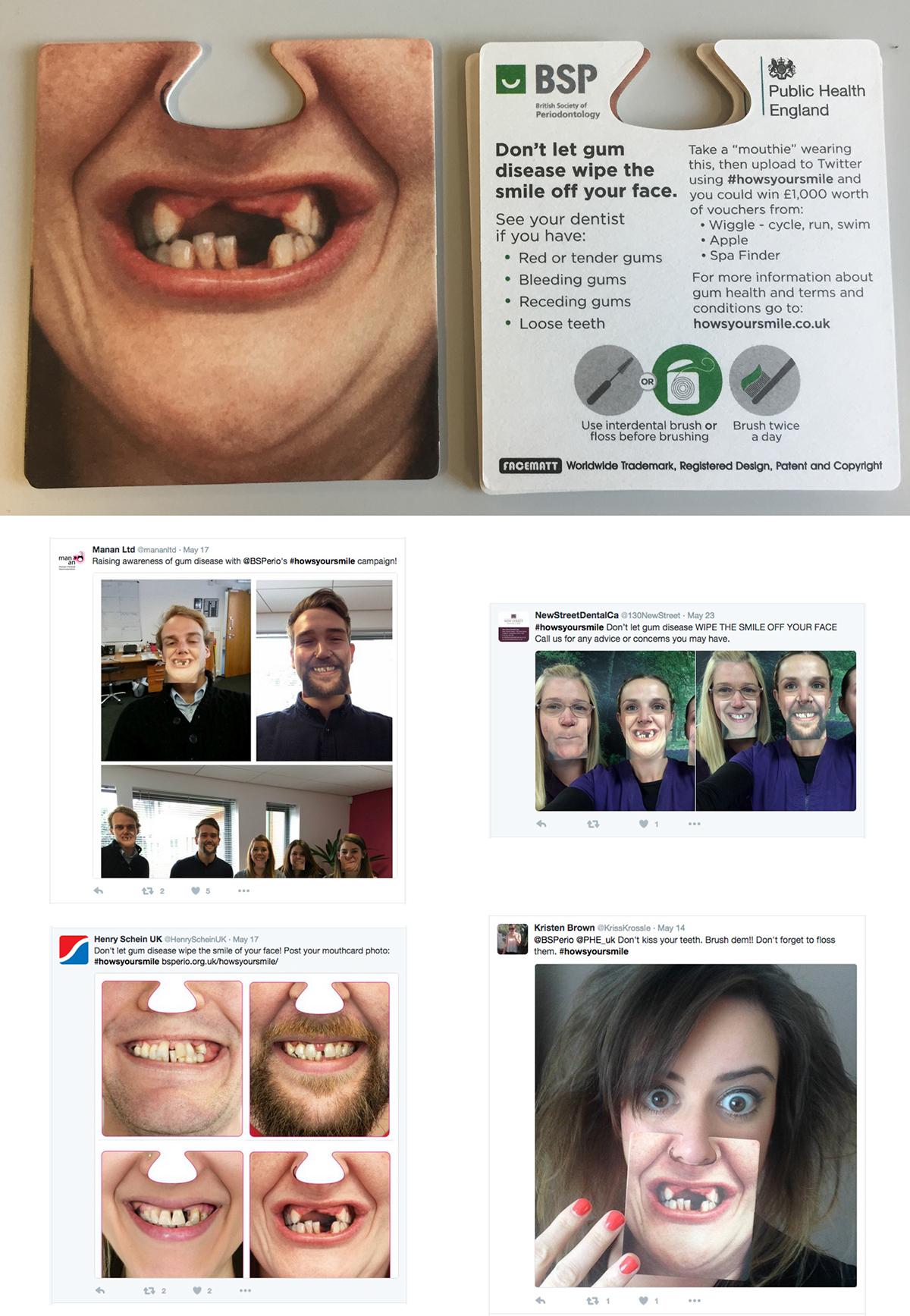 gum disease bsp dentist facemat smile Disease awareness online offline campaign