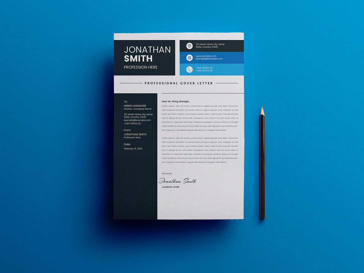 Resume And Letterhead Template Layout On Student Show