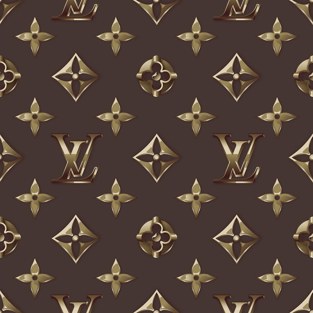 LV Flex&Gold Pattern On Pantone Canvas Gallery