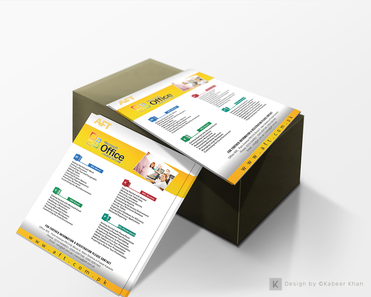 flyer design microsoft courses on behance microsoft office training flyer design