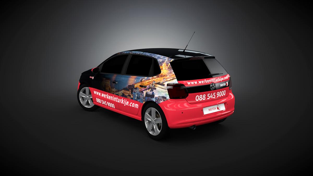 Car sticker design on behance