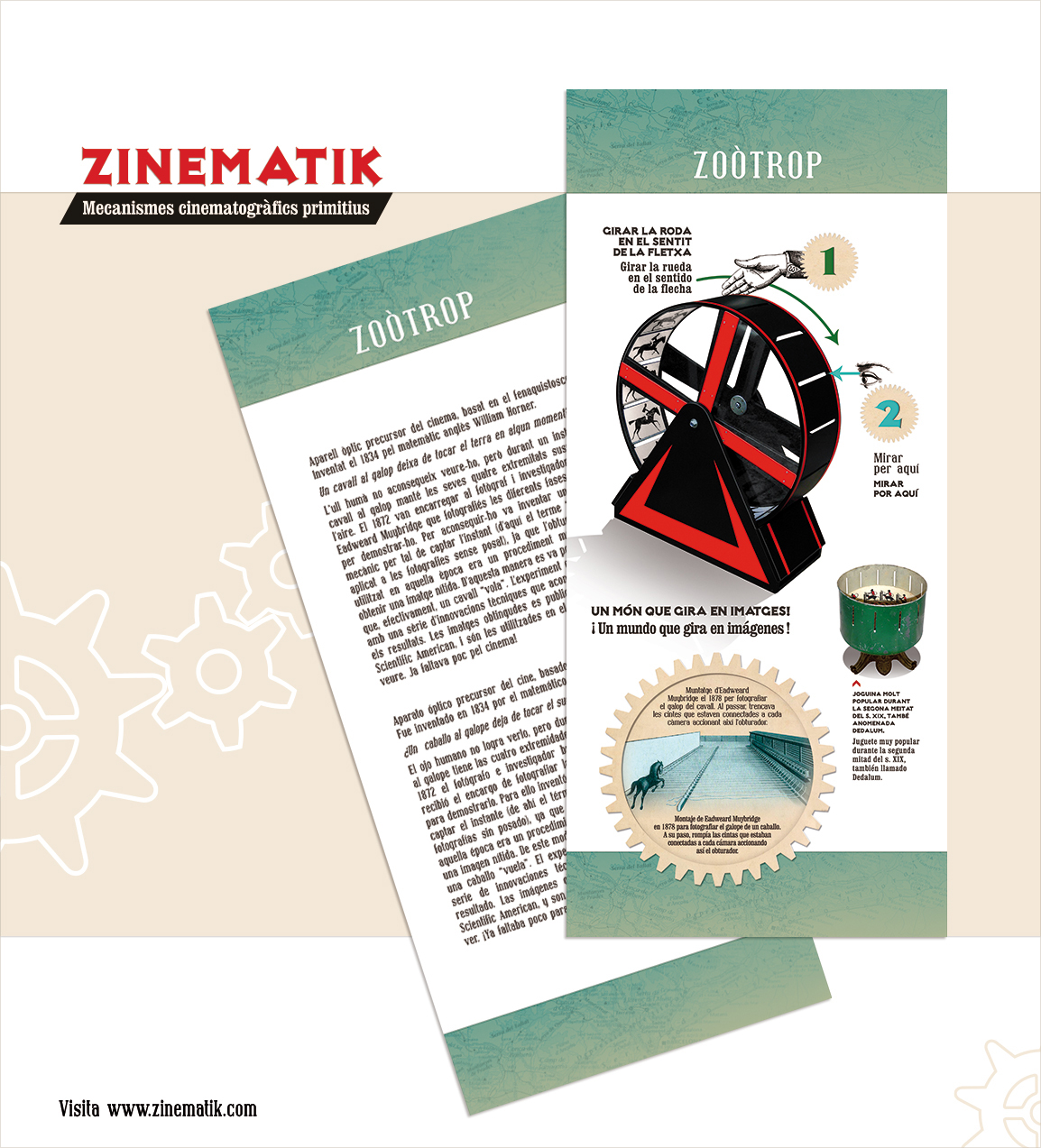 Zinematik Tarjeta de visita Banners explicativos ilustracion
