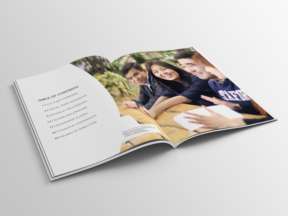 photoshop Layout cover annual report
