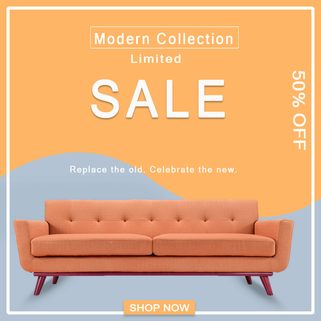 Modern Collection Sofa Sale Banner
