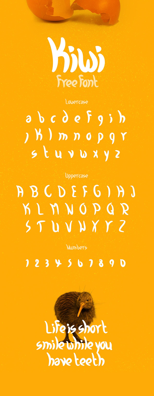 free font kiwi fresh Playful bold
