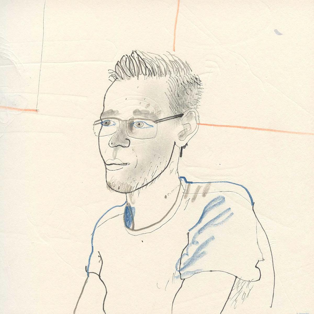 DEREK BACON ILLUSTRATION  portraits sketchbook people studies faces figures life drawing Drawing  life studies