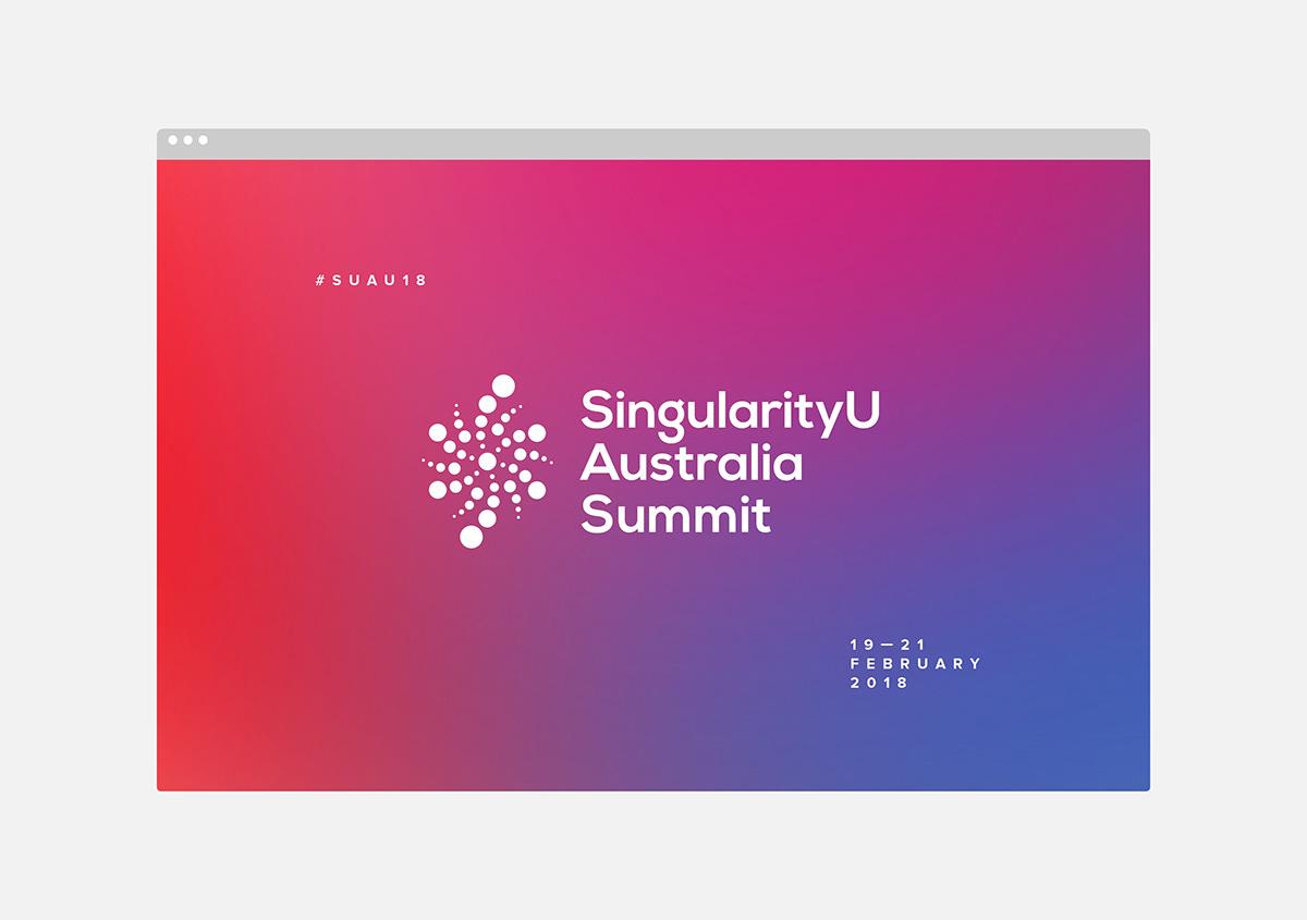 holographic foil brand identity Event type motion graphics  Kinetic Type gradient sydney Singularity University