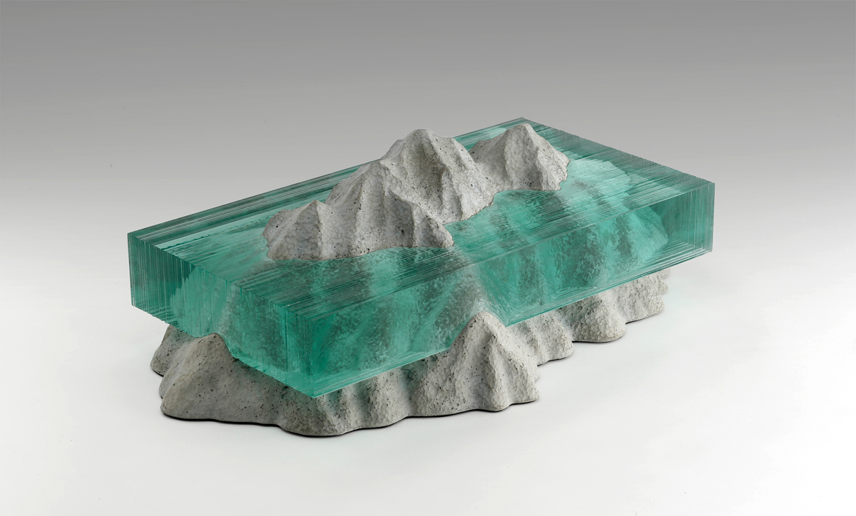 mountains glass glass sculpture concrete Nature laminated laminated glass