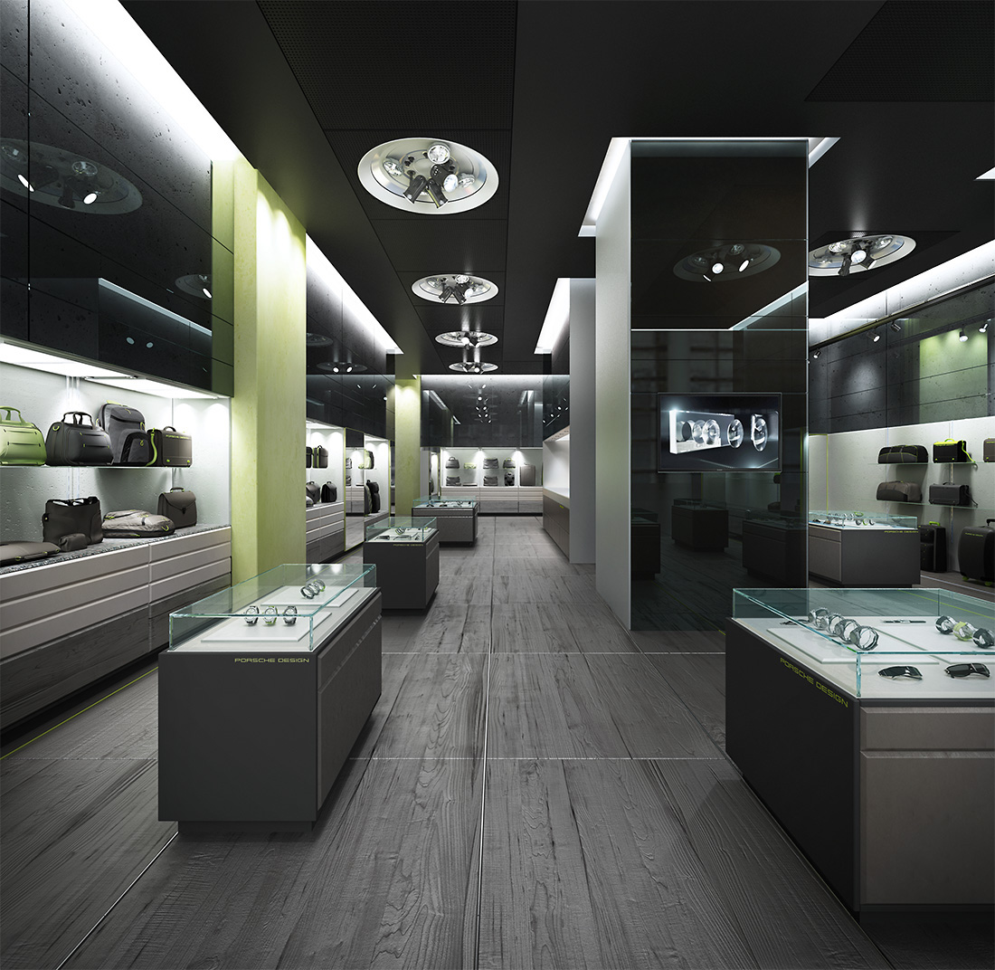 Porsche Design Store Design Concept On Behance