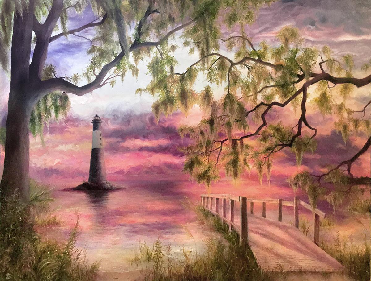 paint SCAD Veronica zak colorful fantasy Landscape portrait