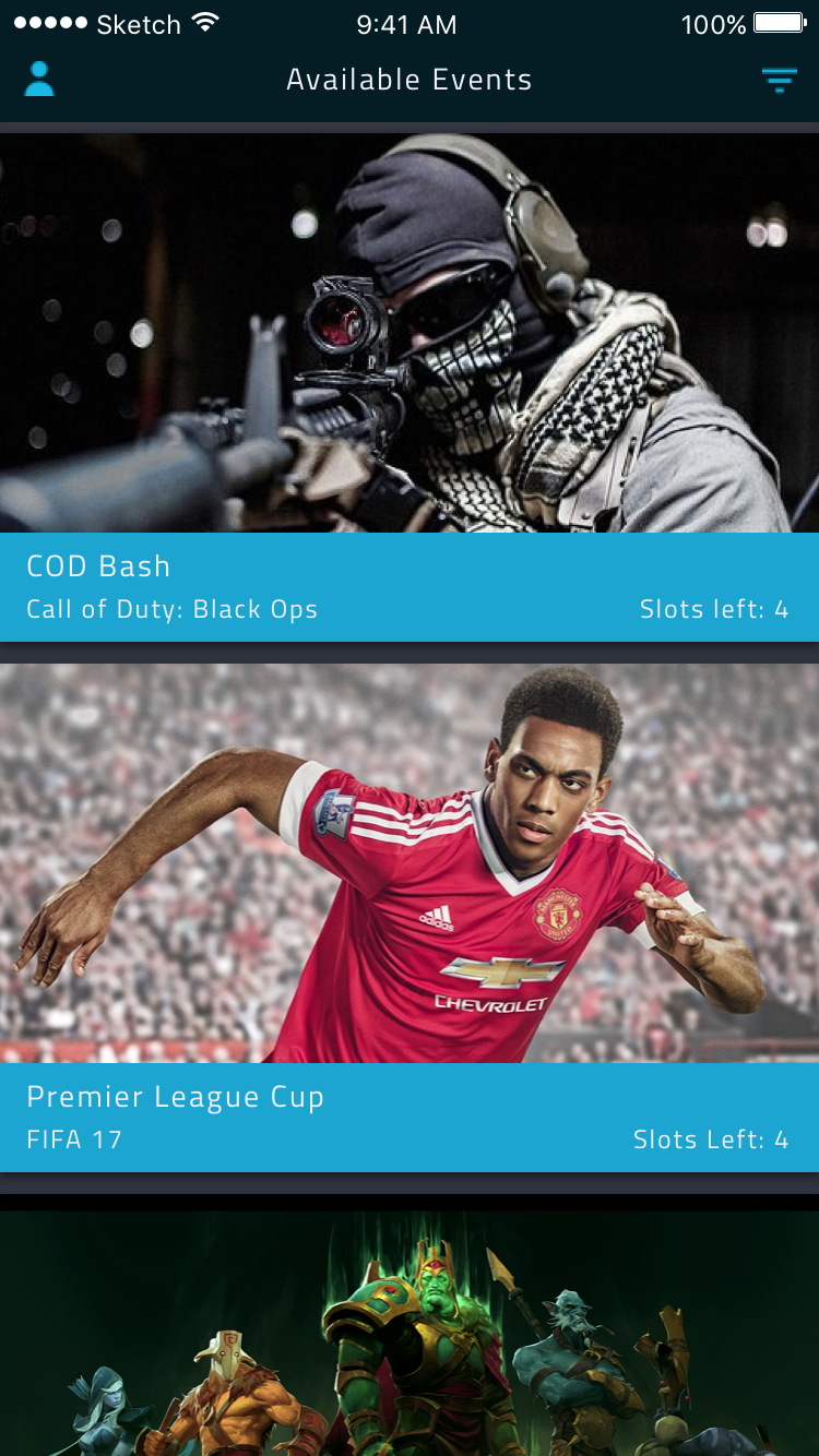 Gaming esports ios