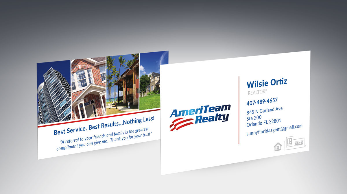 AmeriTeam Ralty Business Cards on Behance