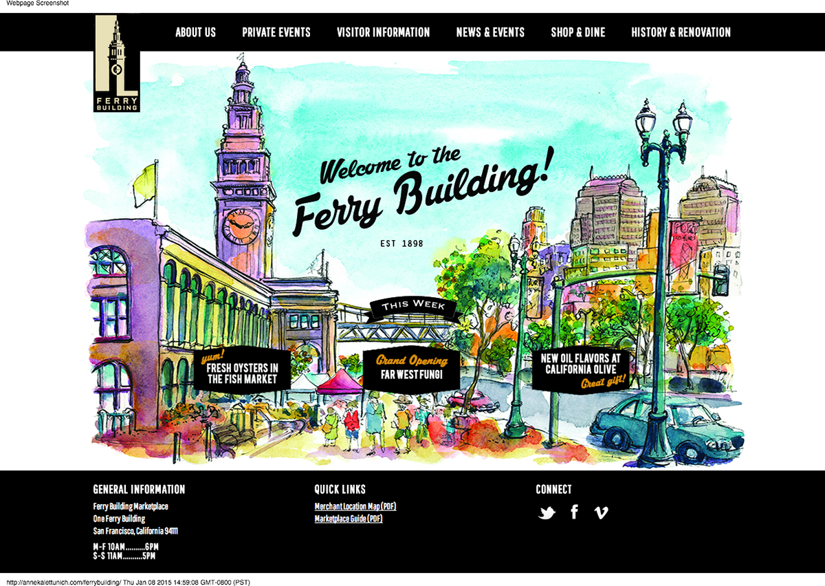 SF Ferry Building Website Design on Behance