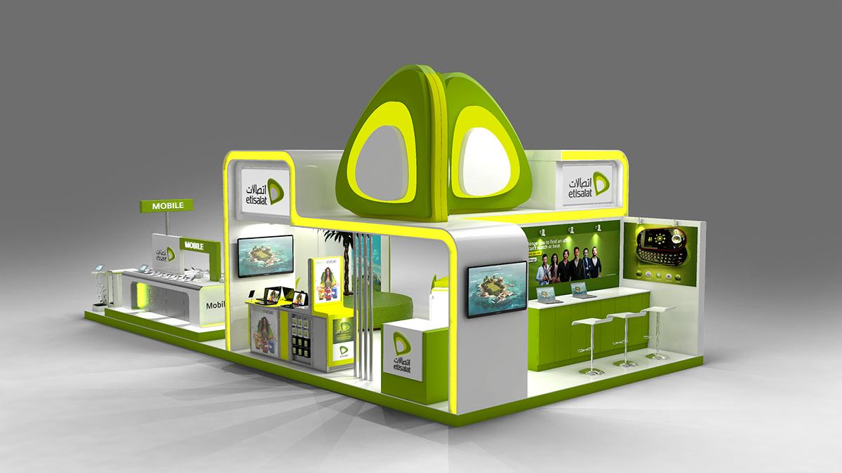 Exhibition Stand Design Gallery : Etisalat exhibition stand design on behance