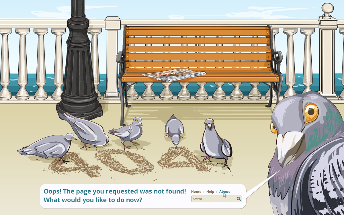 pigeon 404 page error