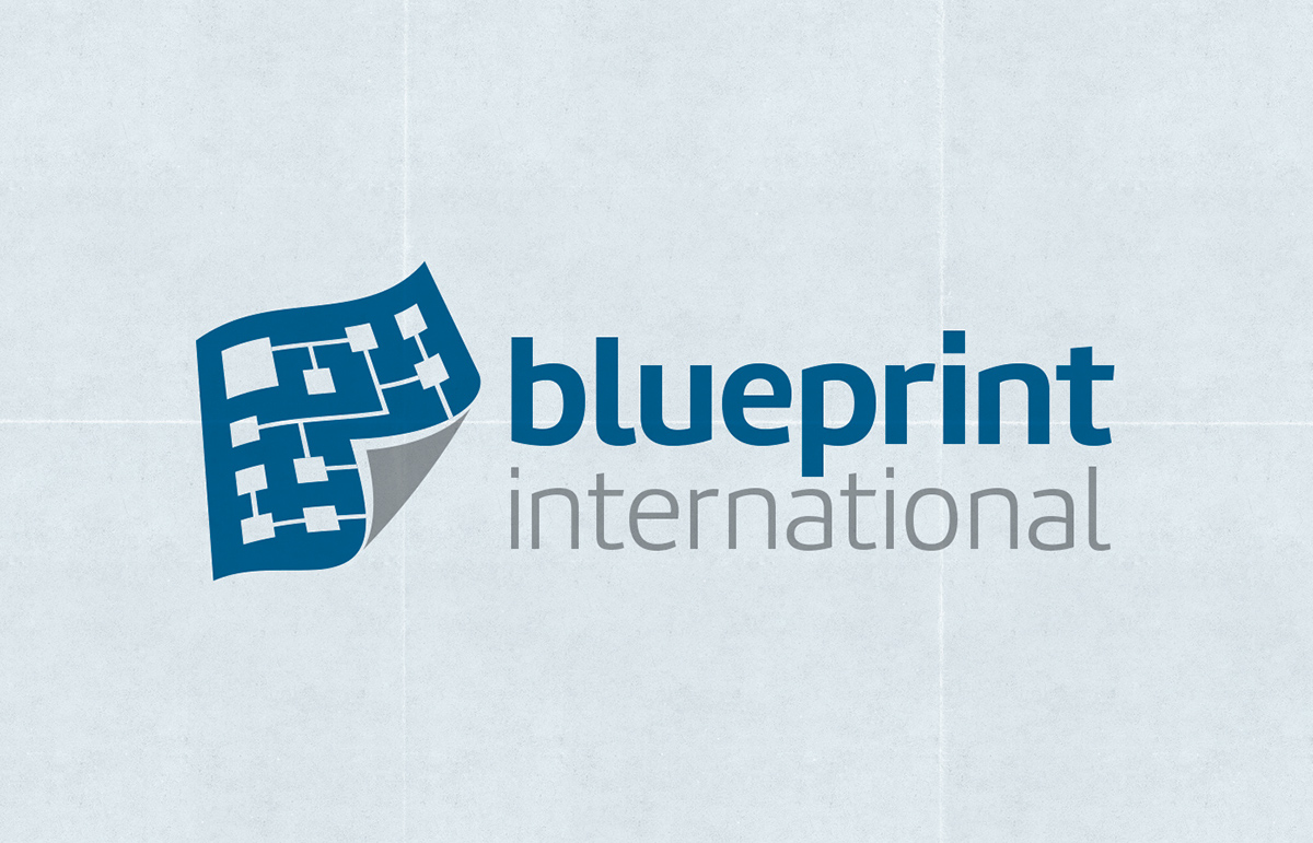 Blueprint international logo design on behance malvernweather Images