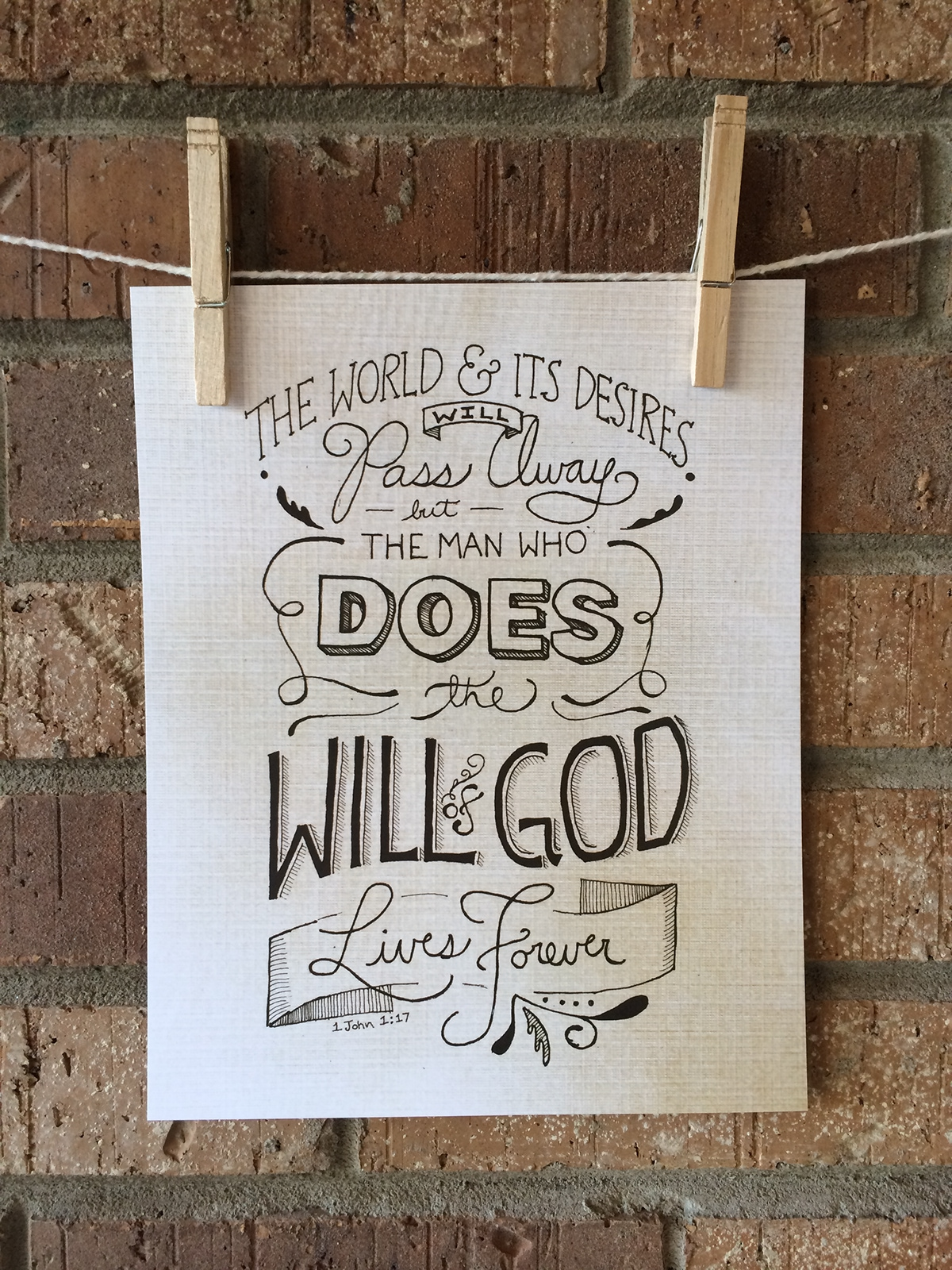 Will of God Hand-lettered Print