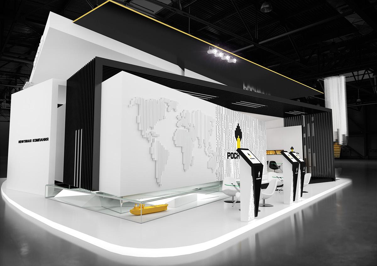 Exhibition Stand Fascia : Визуализация выставочных стендов on behance