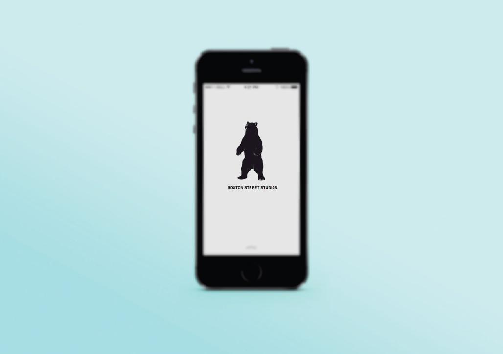 Hoxton Street Studio Liverpool  London app design bear modern trend new 2014 responsible i Phone