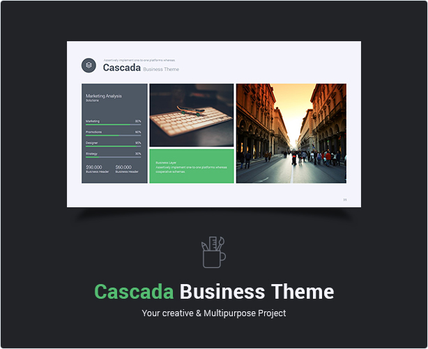 Cascada Business Keynote Theme