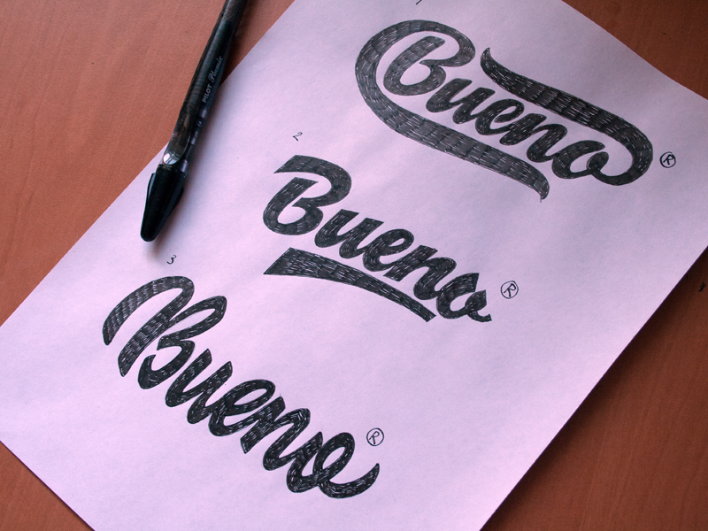 Calligraphy lettering logos behind the scenes on behance