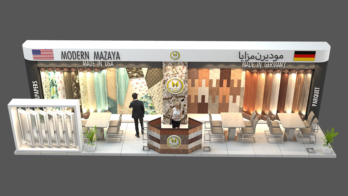 Modern Exhibition Stand Jobs : Modern mazaya exhibition stand design for index on behance
