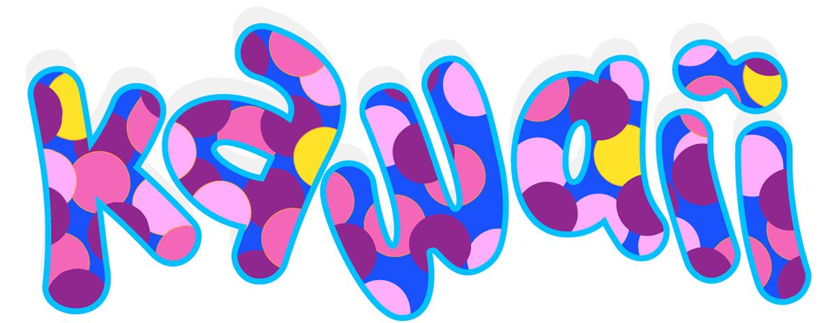 kawaii Emoji japanese colorful artist pattern happy silly