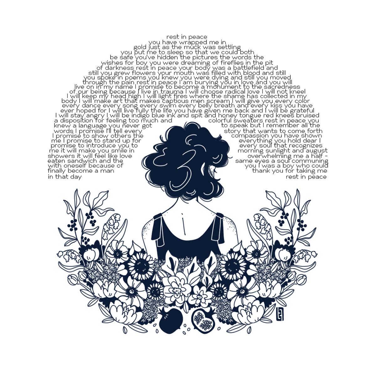Flowers ILLUSTRATION  Mural Performance Poetry  transgender
