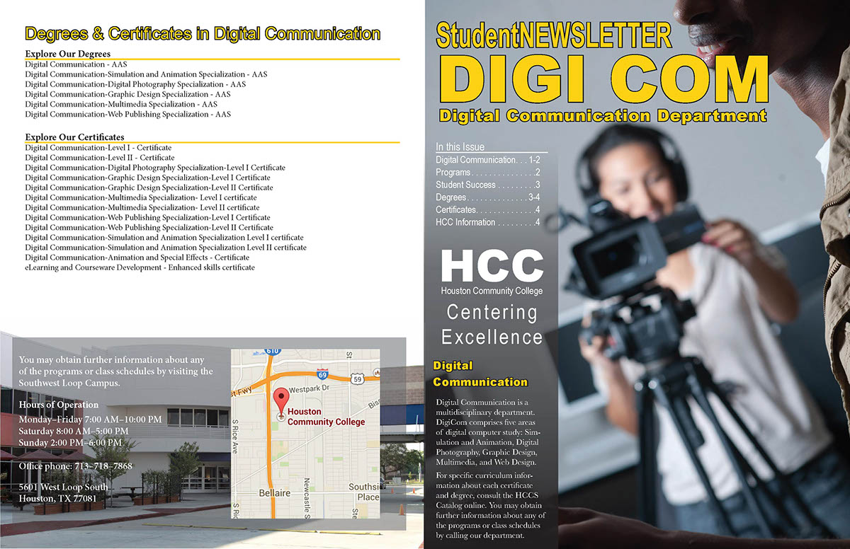 Hcc Booklet Class Project On Behance