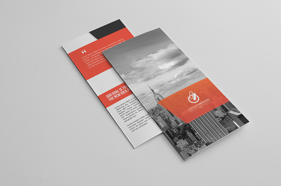 bi fold tri fold brochure template on behance