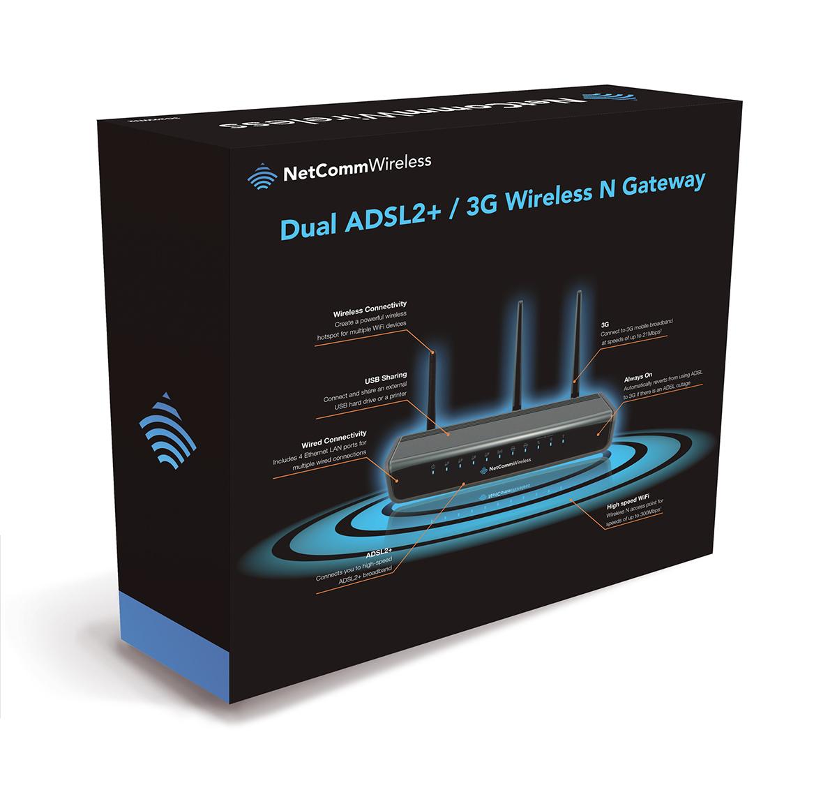 NetComm Wireless Consumer Packaging 2013 on Behance