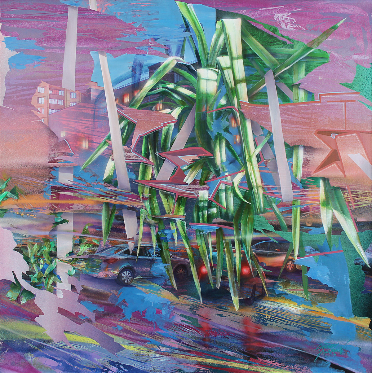 art City Size contemporary FINEART painting   sergey akramov сергей акрамов