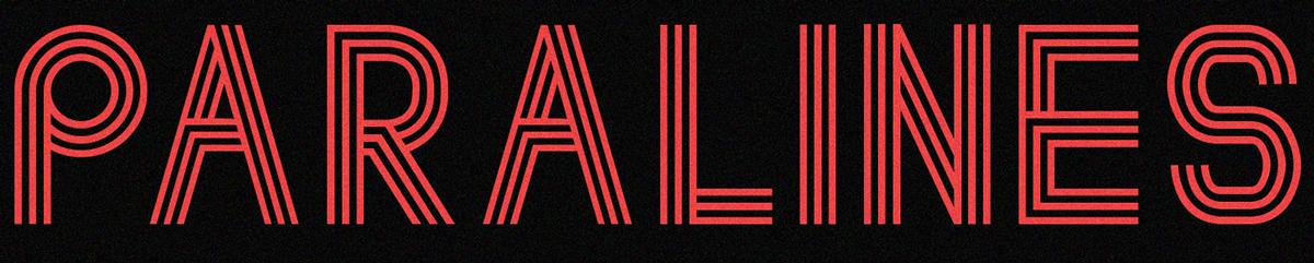 font free paralines retrofuturism Retro line font Free font Typeface download new free typeface