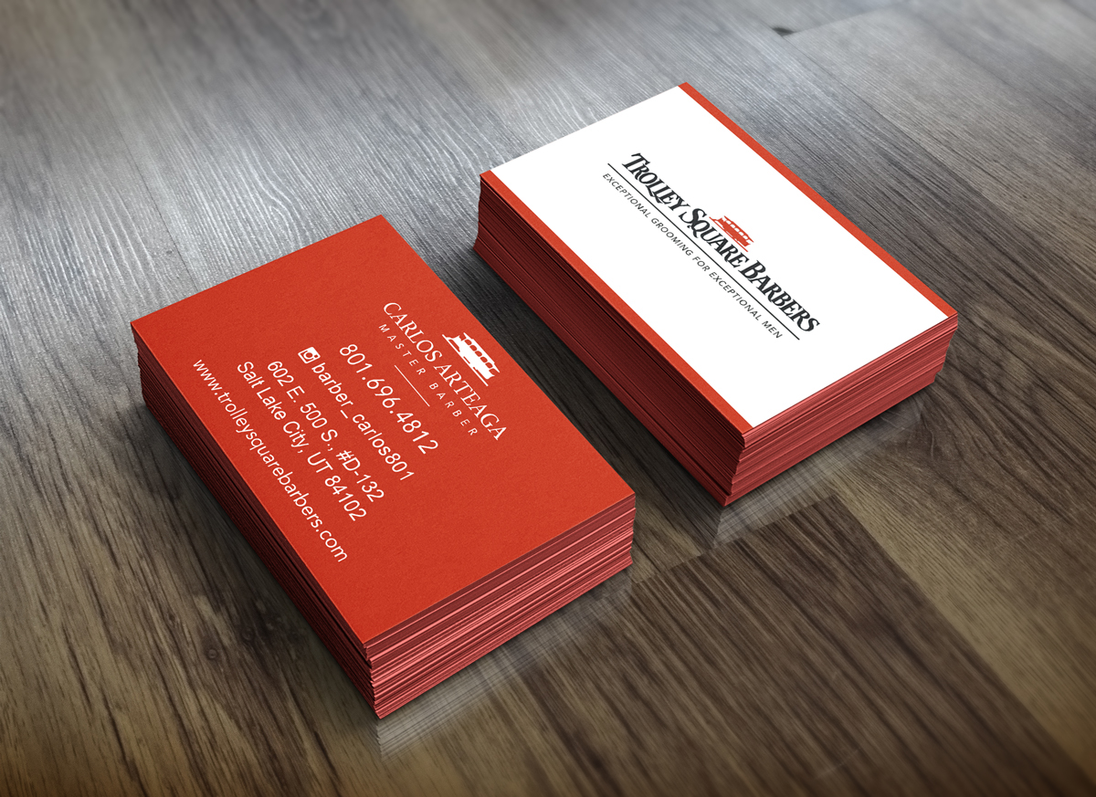 Trolley Square Barbers Business Cards On Behance