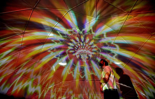 projections 360 degree domes House music music Fashion