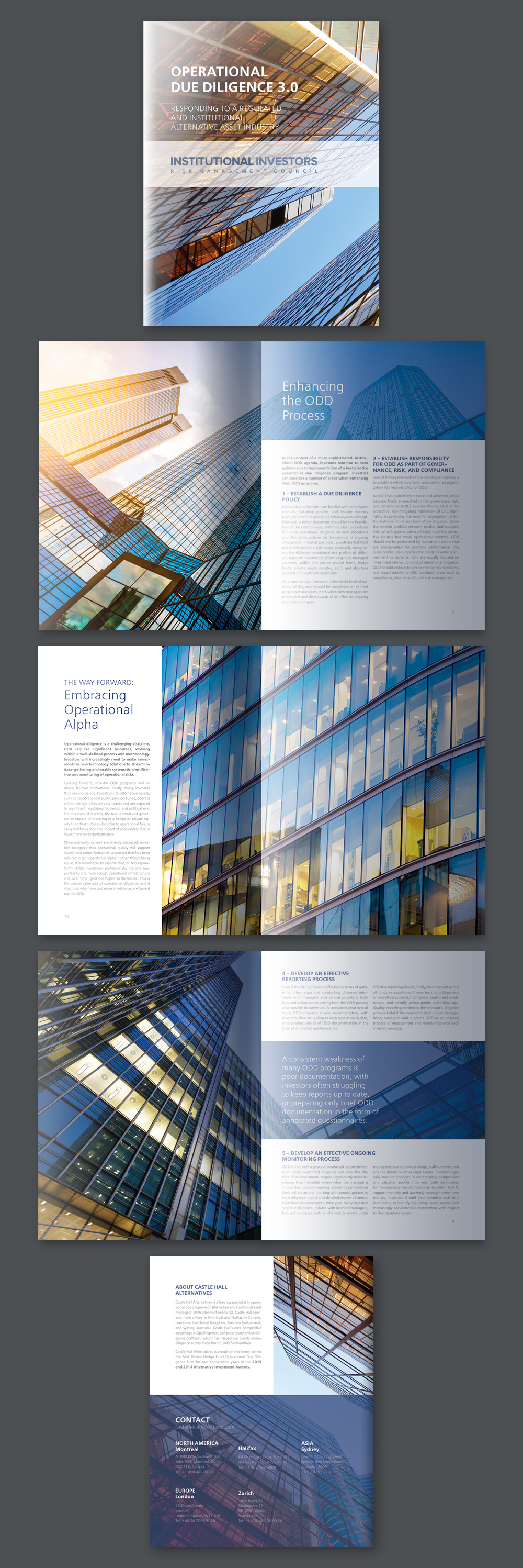 iirmc financial company brochure design on behance
