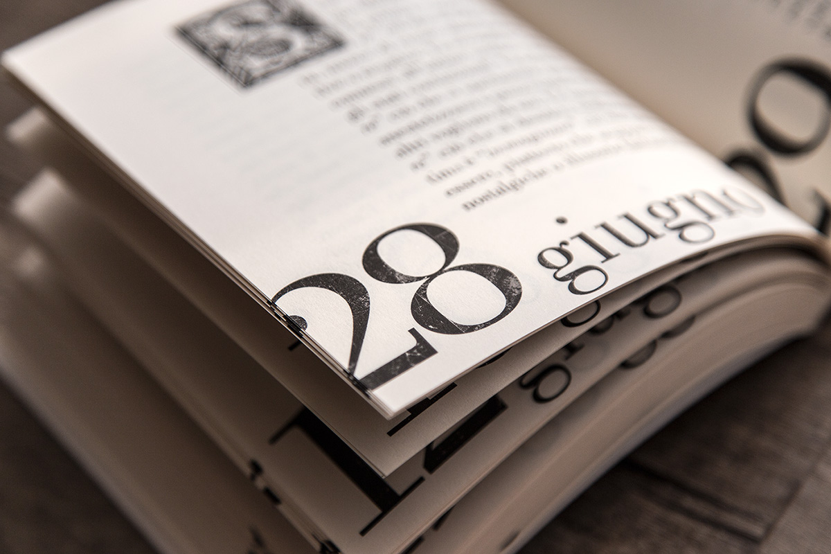 bodoni grunge old style tipography book cover calendar
