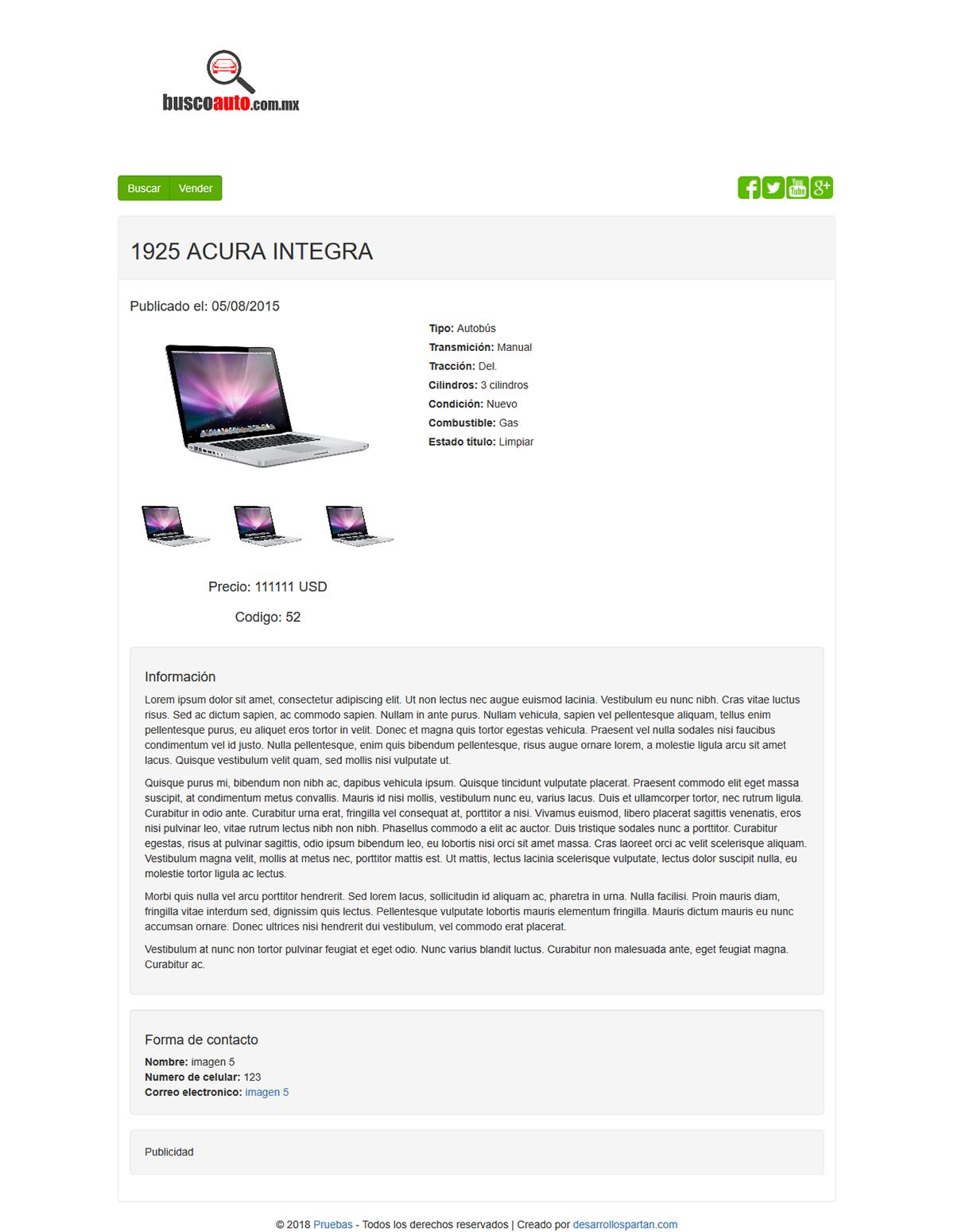 wordpress venta autos Diseño web Web
