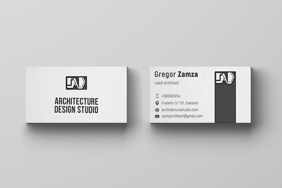 architects business card on pantone canvas gallery. Black Bedroom Furniture Sets. Home Design Ideas