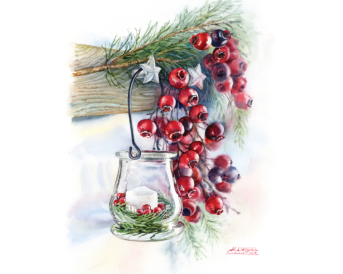 Watercolor Christmas Cards and Illustrations on Behance
