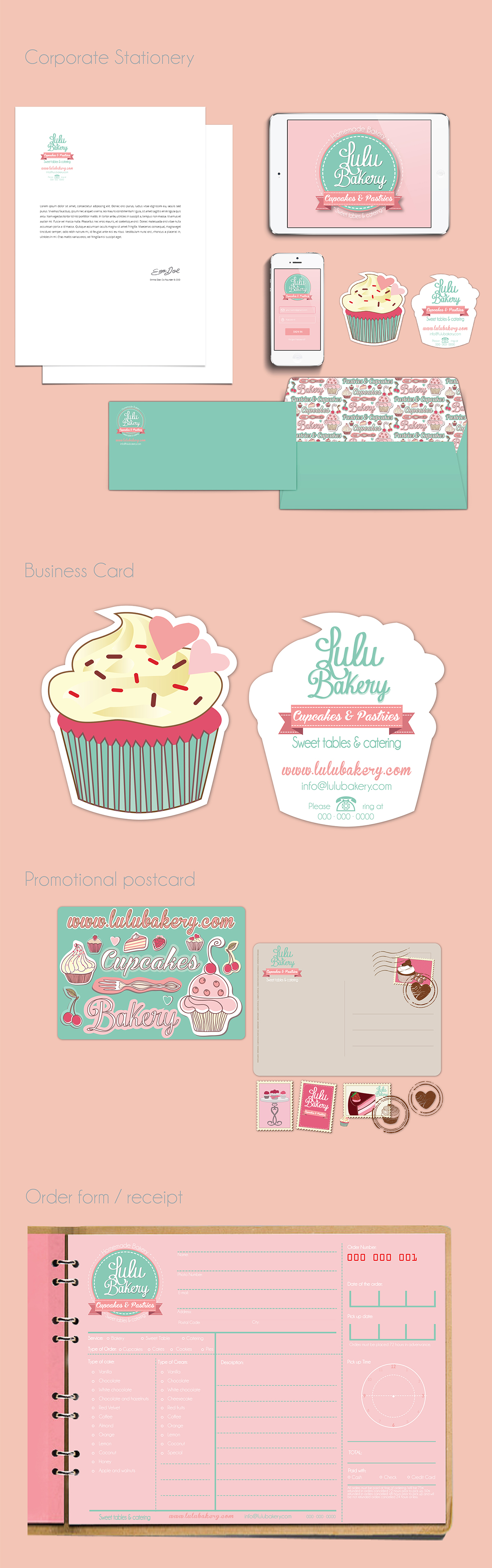 lulu bakery branding behance