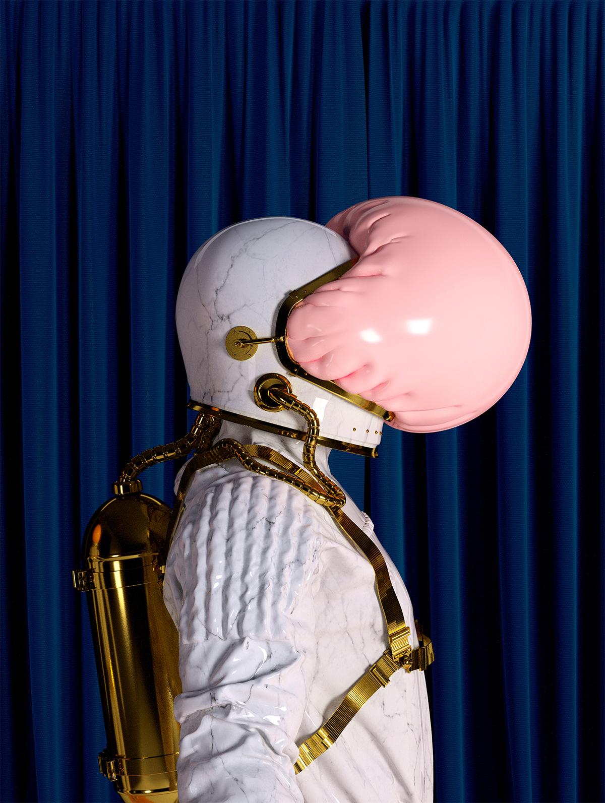pink,cinema4d,graphic,art,astronaut,bubble,design