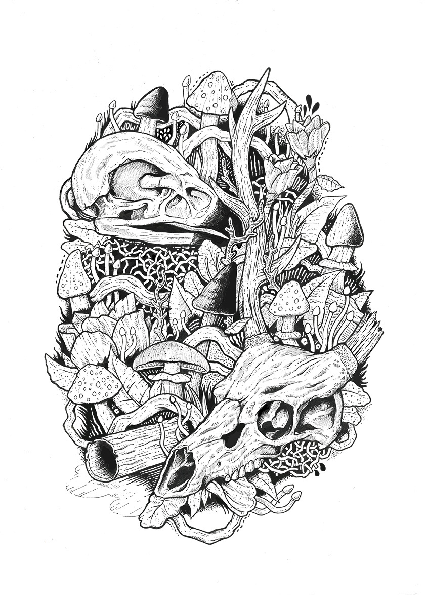 Mushroom kingdom art prints on behance Coloring books for adults near me